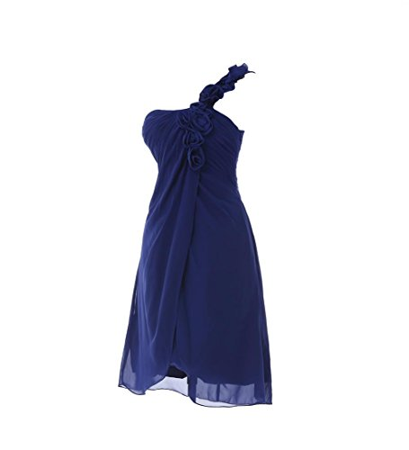 YiYaDawn Kurzes Ballkleid Brautjungfernkleid Eine-Shulter Kleid füt Damen Türkis j9l47