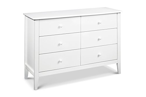Carters by DaVinci Morgan 6 Drawer Double Dresser White