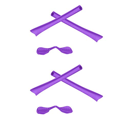 2 Pair Purple Replacement Earsocks & Nosepieces Kits for Oakley Radar Path -  SmartVLT, 65RTH-RK-21PE