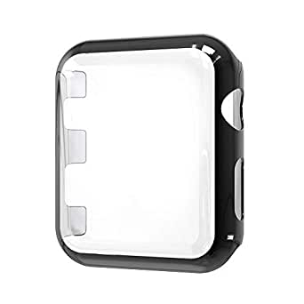 Protective Case Cover PC Frame with Protective Screen for Apple Watch Series 3,38mm Black SAPU