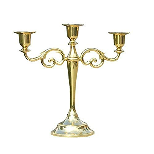 Metal Candle Holder, 5 Head&3 Head European Style Wedding Candelabra Centerpieces Center Props Candle Stick, Candlelight Dinner Family Decorations Candelabra, Candle Stands,Tealight Candlestick -