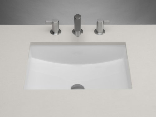 Ronbow 200520 Rectangle Ceramic Undermount Bathroom Sink With Finish: White by Ronbow