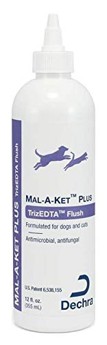 Dechra Mal-A-Ket Plus TrizEDTA Flush for Dogs & Cats (12oz) - Antimicrobial and Antifungal