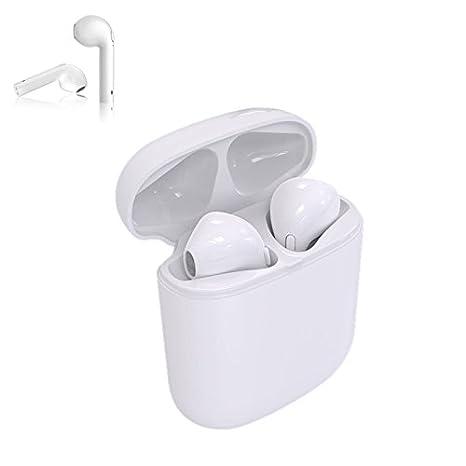 Auricular Bluetooth, Dual Bluetooth anulación auricular micrófono inalámbrico con tragbarem Cargador para Apple Airpods iPhone