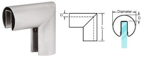 CRL 2'' Brushed Stainless 90º Vertical Corner for 3/4'' (19 mm) Glass Cap Railings