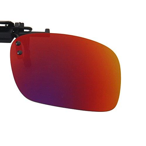 Men Clip Flip en Aire Mujeres Mirrored morado Sunglasses Driving Polarizadas de Lens al Deporte Sol LSP101 Libre LianSan Gafas Up Rectángulo FAdwSwq