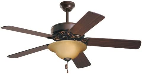 Emerson CF713ORB Pro Series Energy Star 50-inch Dual Mount Ceiling Fan with Reversible Blades, 5-Blade Ceiling Fan with LED Lighting,Oil Rubbed Bronze