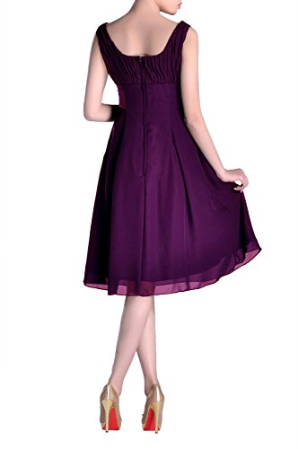 Knee Dress Grape Mother Pleated the Purple Formal Special Bridesmaid Occasion Brides Violett of Length STdw5q