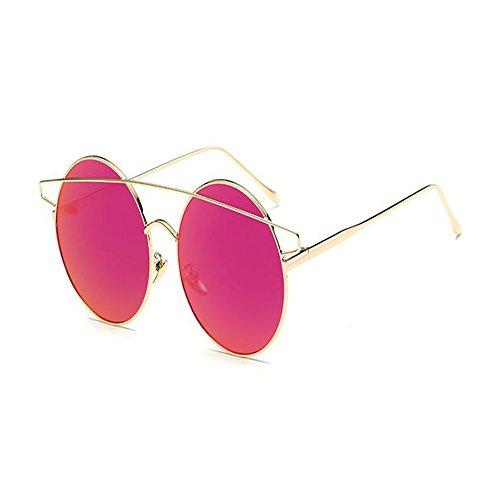 Glod de sol Metal Thin Twin Gafas Plano Xinvision Espejo Mujer Gafas Ojos Light Marco Gafas de Ultra amp; Red Beams gato Clásico qtgwAxRTwF