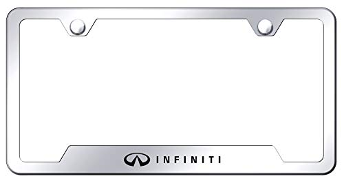 Infiniti Chrome Stainless Steel License Plate - Plate Frame Infiniti For License
