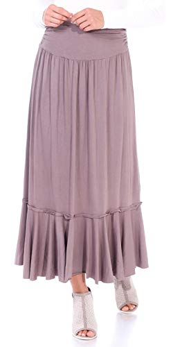 Popana Women's Casual Long Convertible Maxi Skirt Summer Beach Cover Up Made in USA Toffee - Toffee Kosher