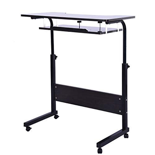 YetouLift Computer Table Lazy Table with Wheels Adjustable Portable Home Office Desk Can Be Raised and Lowered Mobile