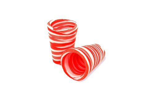 (Edible Candy Shot Glasses Set of 12 Peppermint Flavored - Perfect Stocking Stuffer or Holiday)