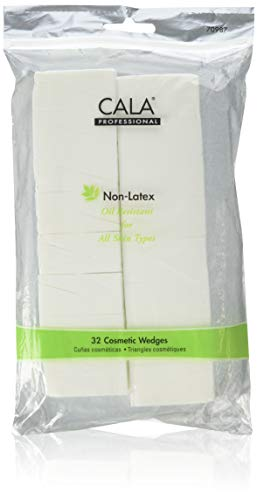 - Cala Professional Non-Latex Cosmetic Wedges, For All Skin Types, 32 Count, (Pack of 3)