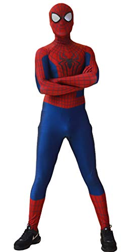 ourworth The Amazing Spiderman 2 Costume Amazing Spiderman 2 Suit for Kids and Adults Cosplay Best Halloween Costume (Kids-M)]()