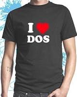 I Love Dos Mens Geek T-shirt by Dead Fresh