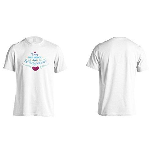 Ich Bin Seine Stimme, Er Ist Mein Herz Herren T-Shirt k653m