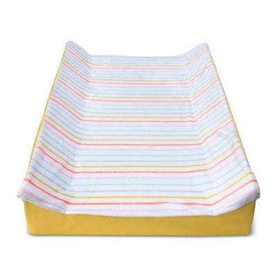 Changing Pad Cover Multi-Stripes -Cloud Island153; White White