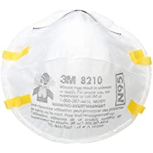 3M 8210 N95 Classic Disposable Particulate Cup Respirator, Standard (8 Boxes of 20)