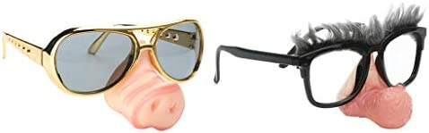 2pcs Funny Pig Nose Big Nose Eyebrow Sunglasses Party Costume Photo Props