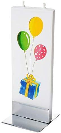 FLTZ-D1746 Flatyz Twin Wick Handmade Flat Candle HAPPY BIRTHDAY GIRAFFE