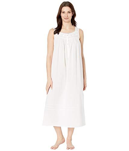 (Eileen West Women's Cotton Woven Lawn Ballet Nightgown Solid White Medium)