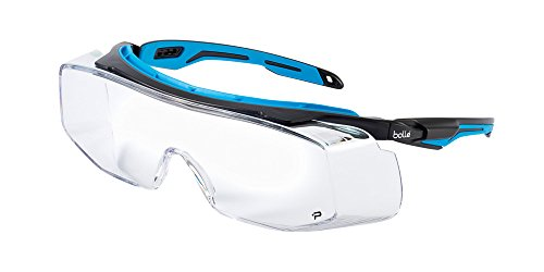 - Bolle Safety Tryon OTG Tyron Glasses with Clear Lens, Black/Blue, Clear