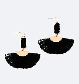 Amazon.com: Linda Fashion Juliet Black Ninja Flare Earrings ...