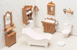 Greenleaf Dollhouse Furniture Kit Bathroom (2-Pack)