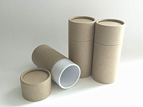 Set of THREE Biodegradable Natural Compostable CREMATION SCATTERING TUBES w/Telescopic Lids & Instructions (STYLE-BLANK)