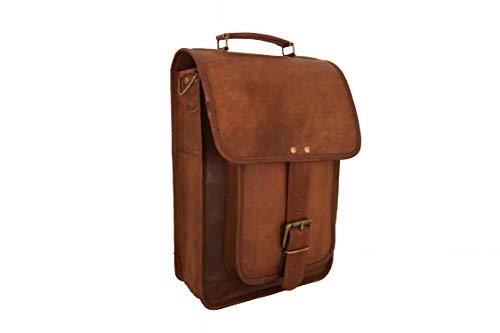 Vintage Craft Real Brown Leather Satchel 13 MacBook/Laptop Messenger Bag [並行輸入品]   B07HSVJNSY