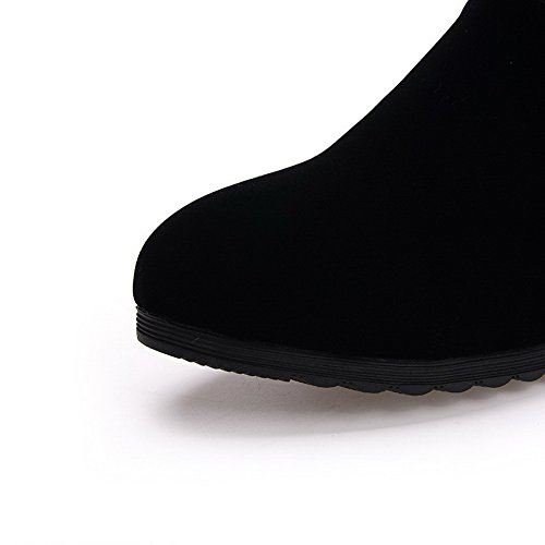 On Inside Womens Heighten Boots BalaMasa Suede Womens BalaMasa Black Pull T7YIwB