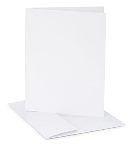 Darice Coordination's A2 Size Cards and Envelopes (Set of 12), White