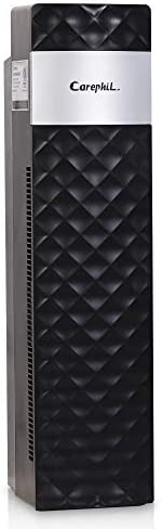 Carephil Hepa Air Purifier for Home with True Hepa Charcoal Air Filters Allergen Reducing Cleaner Odor Eliminators Traps Smoke Dust Mold Pets Dander CP1601