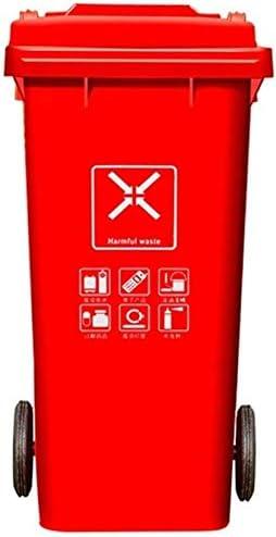 POIUY ヘビーデューティ二輪車ごみ箱、分類屋外廃棄物ビンにふた、ビッグごみ缶、大型の屋外保管、120L (Color : Green)