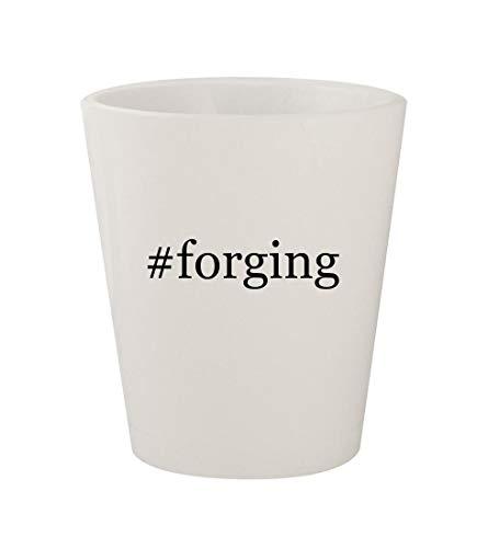(#forging - Ceramic White Hashtag 1.5oz Shot Glass )