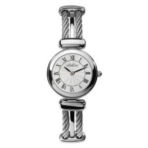 Women's Watch - Michel Herbelin - Stainless Steel Band and White Dial - W.R 5ATM - 17420/B08