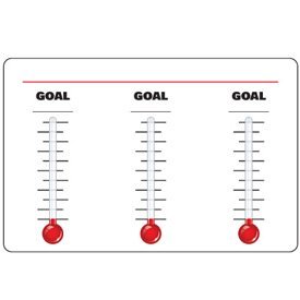 High Performance Plastic Dry Erase Safety Tracker Sign