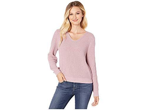 Pendleton Women's Emilie V-Neck Sweater, Lavender Frost, SM