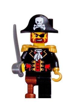 lego pirates pirate captain brickbeard with cutlass minifigure - Lego Pirate