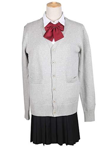 (グードコ) レディース セーター 制服 ニット カーディガン スクール ゆったり Vネック 学生服 トップス オールシーズン 柔らかい 全6色