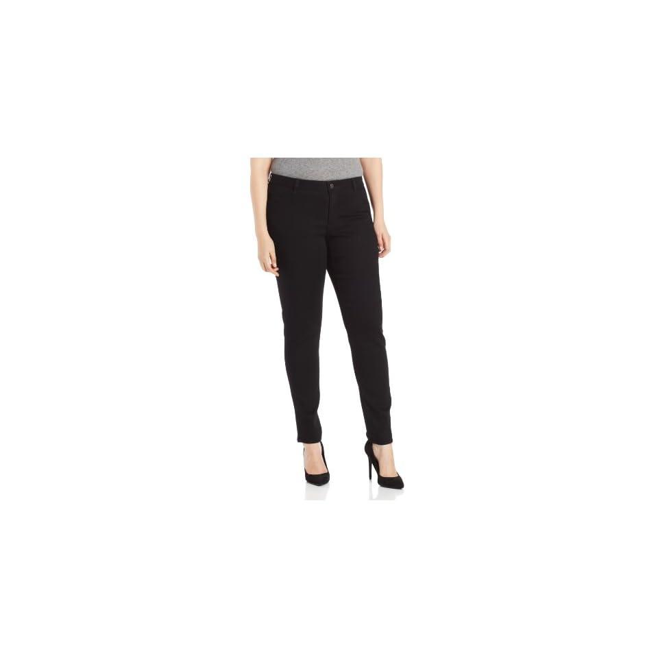 DKNY Jeans Womens Plus Size Legging Jean, Caviar Wash, 24W