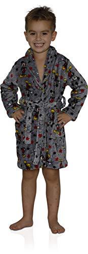 - Disney Little Boys' Toddler Mickey Mouse Plush Robe, Gray, 3T, Gray, Size 3T