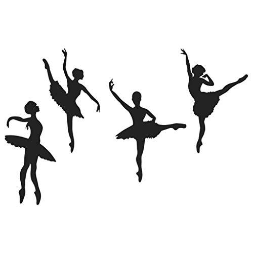 IslandseCreative Ballet Girl Combination Wall Stickers Children's Room Home Decoration