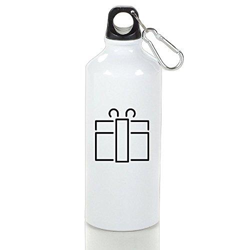 HanSmallT Gift Vintage Camping White Drinking Water Bottle Aluminum With Carabiner