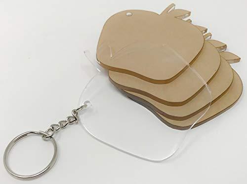 Apple Shaped Keychain - 9