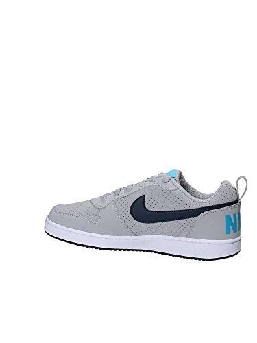Nike Herre Domstol Købstad Lav BasketballSko, Grå Grå / Blau / Weiß (ulv Grå / Arsenal Flåde-blå Raseri-hvid)