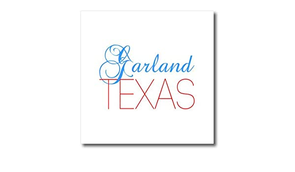 Patriotic Home Town Design T-Shirts Garland 3dRose Alexis Design red Texas American Cities Texas Blue Text