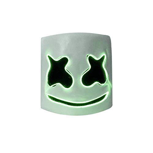 Angmile LED DJ Marshmello Full Face Covered Mask Party Night Club Music Festival Carnival Dress -