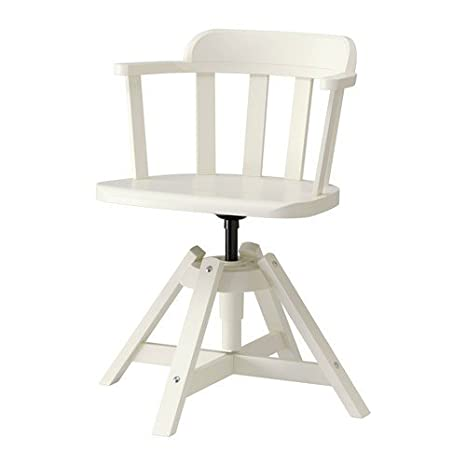Sedie Ikea In Legno.Ikea Feodor Chair With Armrests White Solid Birch Amazon Co Uk